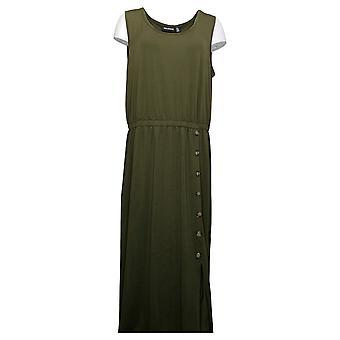 Nina Leonard Dress Women's Reg Sleeveless Maxi Dress Green 691477