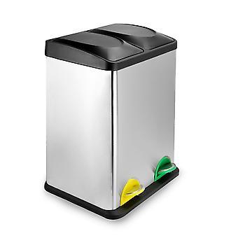Contenedor de pedal de reciclaje compacto 40L (2 x 20L) | M&W
