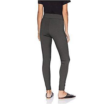 Brand - Daily Ritual Women's Ponte Knit Legging, black/white herringbone, Medium Short