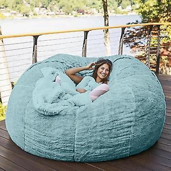 غرفة المعيشة الأثاث1 80cm العملاقة الفراء حقيبة الفول / جولة كبيرة أريكة السرير الغطاء 5997