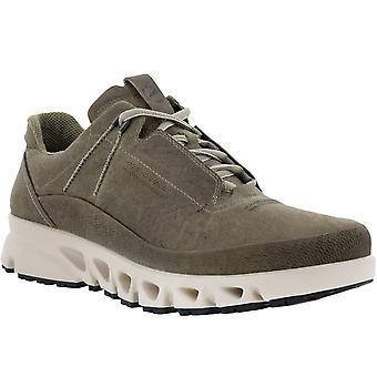 ECCO Mens Multi-Vent Gore-Tex Lace Up Trainers Sneakers Shoes - Vetiver