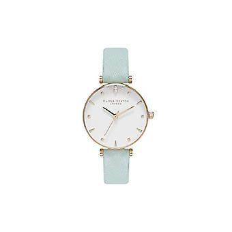 Olivia Burton analoge quartz horloge vrouw met lederen riem OB16AM143