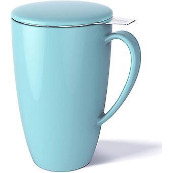FengChun 201.102 Teetasse mit Deckel und Sieb, Becher aus Porzellan für Losen Tee Oder Beutel,