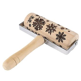 Christmas Wooden Rolling Pins Snowflake