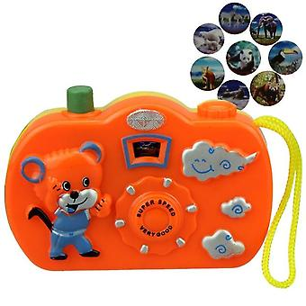 Light Projection Camera Kids Educational For Baby Animals World Random Color No