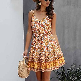 Button Dress With Flowers