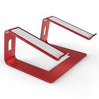Punainen kannettavan tietokoneen jalusta - kannettavan tietokoneen nousuteline työpöydälle - alumiininen ergonominen kannettava tietokone holde x6544