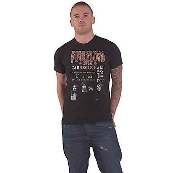 Pink Floyd Camiseta Carnegie Hall 72 Band Logo nuevo Oficial Mens Black