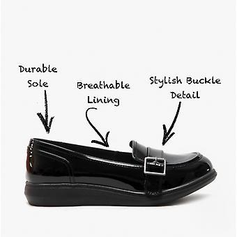 Rocket Perro Marez Petty Patente Señoras Slip On Zapatos Patente Negro