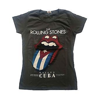 The Rolling Stones t paita Havanna Kuuba viralliset naisten laiha fit hiili harmaa