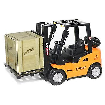 ボーイズ合金おもちゃ車ミニプルバックエンジニアリング車おもちゃ建設エンジニアリングフォークリフト