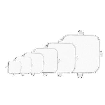 Couvercle extensible Silicone Square 6-Pack Transparent