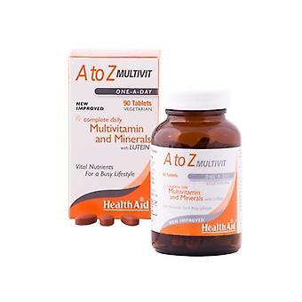 טבליות מולטי-ויטמין A-Z של HealthAid 90 (801385)
