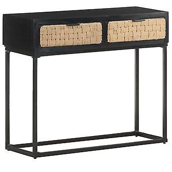 """שולחן מסוף vidaXL 90x35x76 ס""""מ עץ מלא מנגו"""