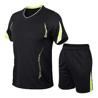 Men's Casual Tracksuit Quick-dry Running Sports Two-piece Set