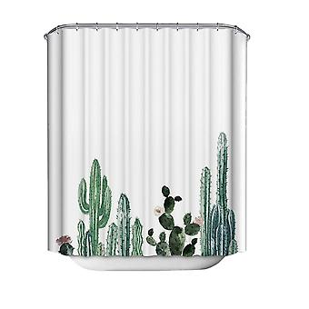 Mile Tropic Plant Painting Shower Curtains