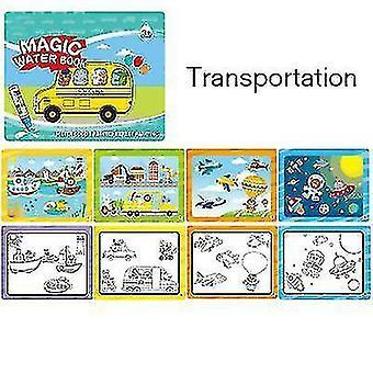 Wiederverwendbares Bilderbuch für Kinder Graffiti Wassermalerei Buch (Traspontation)