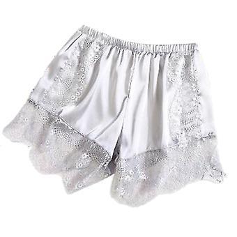 Women Satin Silky, Elastic Waist Tracksuit Bottom Short Pants