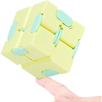 Legetøj Stress Lindre Fidgeting Spil for børn og voksne, cute Mini Unique Gadget (Gul)