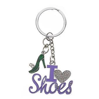 Nektar I Love Shoes Figured Key chain, Figured Shoe, Key Holder, Measuring 3.5 cm in diameter with a capacity of 6-7 Key, Lila