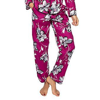 Cyberjammies Natasha 4941 Dámské růžové květinové bavlněné pyžamo