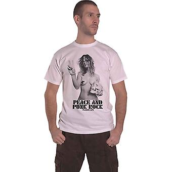 The Flaming Lips T Shirt Peace and Punk Rock Girl new Official Mens White