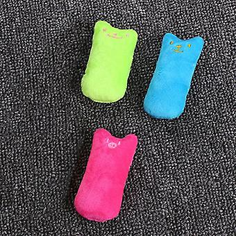 Cute Interactive Pets Teeth Grinding Catnip Toys Fancy Claws Thumb Bite Toy