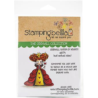 Stamping Bella Cling Stamps - Oddball Queen Of Hearts