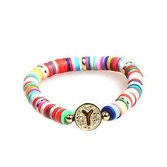 Fashion 26 Alphabets Cz Strand Gold Bracelets