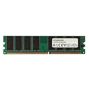 V7 V732001GBD, 1 Go, 1 x 1 Go, DDR, 400 MHz, DIMM 184 broches, vert