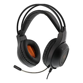 DELTACO GAMING DH210 Stereo headset, 2 x 3.5 mm, LED, 2 m cable, black