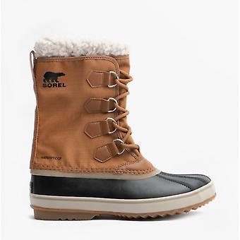 Sorel 1969 Pac Nylon Mens Nylon Waterproof Boots Camel Brown/black
