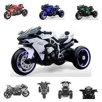 Moni Kids Elektrische Motorfiets Ninja, Drie Plastic Wielen, LED-verlichting, Mp3