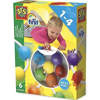 Wooden blocks children's my first crayon beads set unisex 1 to 4 years multi 00244