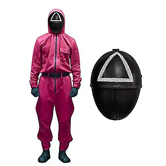 Squid Game Costume, With Belt+gloves+masks, Fashion Leisure Tracksuit, Unisex Halloween Costume