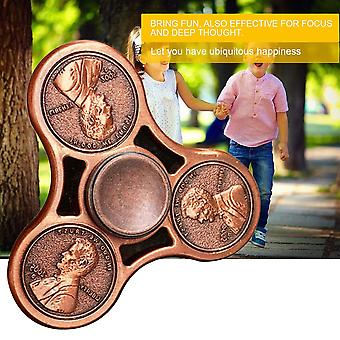 Finger Anti-stress With Bearing Triangle Coin Rotatable Darts Finger Spinner