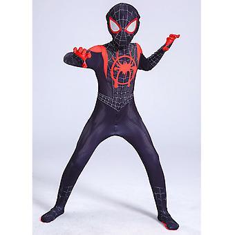 Spiderman: Into The Spider-verse Superhero Costume Kids Miles Cosplay