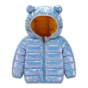 Veste d'hiver 2022 pour filles Manteau pour enfants léger en du bas brillant pour enfants