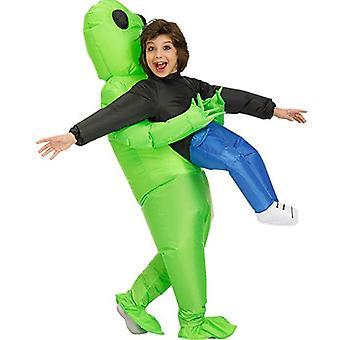 Fantasia alienígena inflável para alienígena espacial adulto segurando fantasia humana Fantasia de Festa de Halloween Fantasia Engraçado Cosplay Fantasia Vestido Fantasia