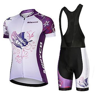 Radfahren Jersey Set Sommer Schnell Trocknend Bike Jersey Kurzarm Radfahren Kleidung Mtb Anzug Frauen Kleidung