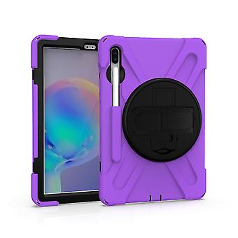 Support rotatif à 360 degrés Hand Strap + Pen Slot, Tablet Protective Cover Tab S6 10.5 T860, tab S6 10.5 T865, tab S6 10.5 T867 Protective Shell, Full B