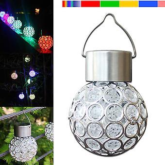 Lampe solaire led suspendue lanterne imperméable à l'eau hollow out ball lamp pour jardin extérieur jardin patio