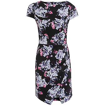 Get The Look Floral Scuba Asymmetric Hem
