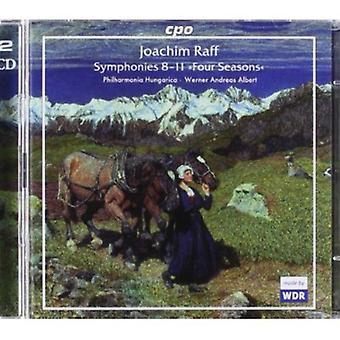 J. Raff - Raff: Sinfonías 8-11 cuatro estaciones [CD] USA importar