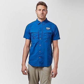 New Columbia Men's Cascades Explorer Short Sleeve Shirt Blue