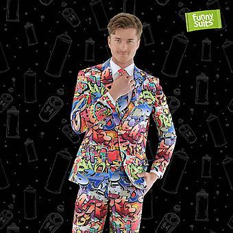 Graffiti of 90s street art suit hip hop 3-piece suit costume deluxe EU SIZES