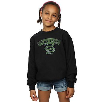 Harry Potter Mädchen Slytherin Sport Emblem Sweatshirt
