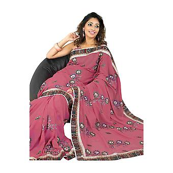 Bhagirathi Fancy festival wear designer Georgette Sari  saree