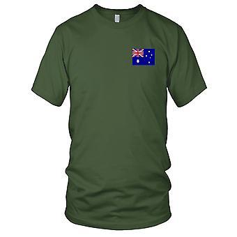 Australia Australian land nasjonale flagg - brodert Logo - 100% bomull t-skjorte damer T skjorte