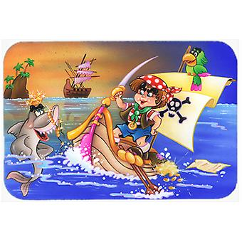 Boy Playing Piriate with Dolphin Glass Cutting Board Large